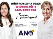 ANO chce koalici s Karlovaráky a ODS