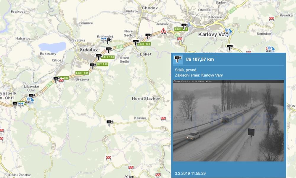 Sníh na silnicích komplikuje dopravu