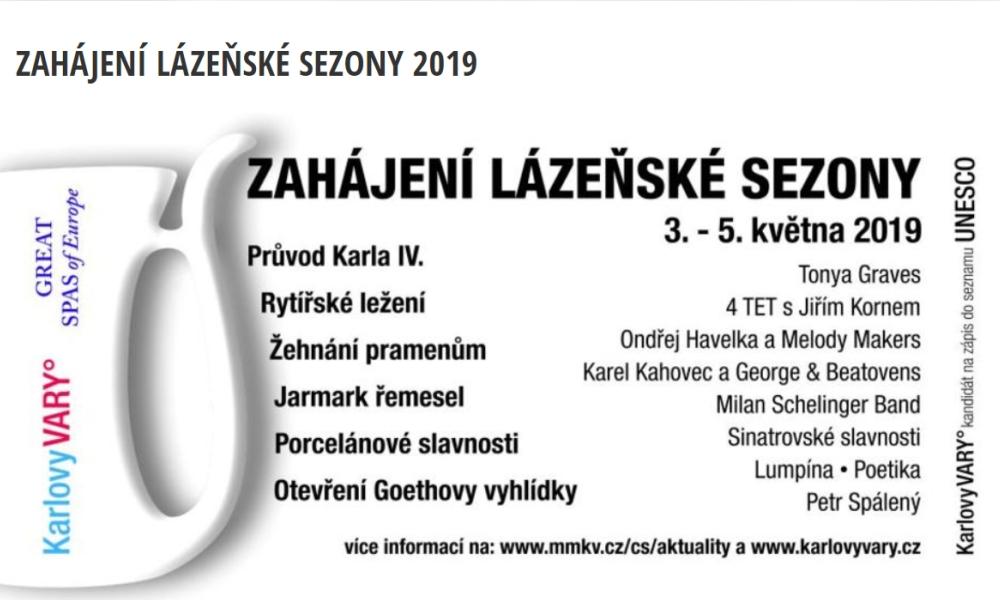 KARLOVY VARY ZAHÁJÍ LÁZEŇSKOU SEZONU 2019