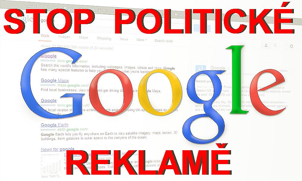 Google začíná omezovat politickou reklamu